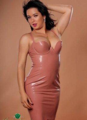 Bianka Nascimento Latex Dress